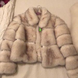 White fur coat (faux)